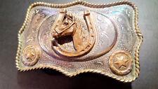 Buckle Belt - Horseshoe/Horse - Alpaca Mexican - Vintage 90s