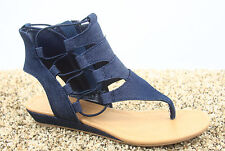 Women's Open Toe Strappy Gladiator Heel Low Wedge Sandal Shoes Size 5.5 - 11