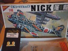KAWASAKI KI45 KAY NICK TORYU 1/48 SCALE NICHIMO MODEL+RESIN PARTS