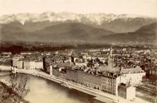 France Isère Grenoble vintage print Tirage albuminé  11x18  Circa 1880