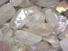 """Angel Aura crystal bigger necklace/pendant drilled 1-1.7"""" 6 piece lots"""