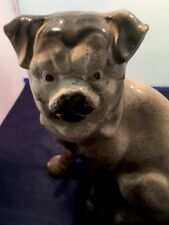 Antique pottery decorative pug dog figurine 19th century A2