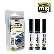 Ammo by Mig - Print Blue Patinas Oilbrusher Set # MIG-7510