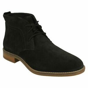 CAMZIN GRACE LADIES CLARKS SUEDE DRESS CASUAL LACE UP DESERT CHUKKA ANKLE BOOTS