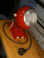 RARE 70' ELEKTROFEM HUNGARY SPUTNIK EYEBALL EYE RED SPACE AGE WALL LAMP VINTAGE