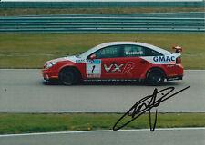 Fabrizio Giovanardi mano firmato VX RACING 7x5 foto.