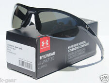 UNDER ARMOUR Stride XL POLARIZED Sunglasses Black/Grey NEW Sport/Cycle $125