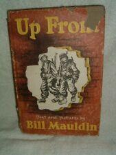 Up Front Bill Mauldin 1945 HC Book First Print World War 2 Cartoons