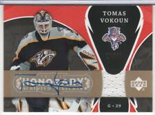 TOMAS VOKOUN 2007-08 TRILOGY HONORARY SCRIPTED SWATCHES JERSEY AUTOGRAPH 50 MADE