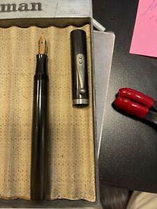 Vintage Waterman 56 fountain pen hard rubber black.
