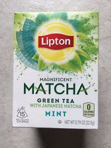 "NEW FACTORY SEALED 1 ""Lipton Matcha"" Green Tea Mint 15Count * - FREE SHIPPING"