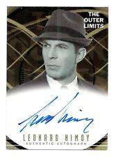 Rare The Outer Limits Premier Edition Leonard Nimoy Autograph Card A3