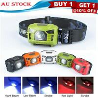 USB Rechargeable LED Head Light Torch Camping Induction Headlamp Head Torch