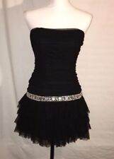 Blondie Nites Party Dress, Size 3, Mini, Strapless, NWT, Black