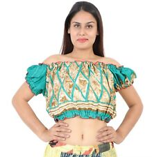Tribal Belly Dance Sari Fabric Tops ,Tribal and Belly Dance - 10 pcs lot