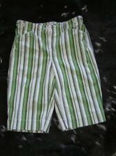 Jones New York SPORT Bermuda Shorts Green White Black Stripe STRETCH Size 4