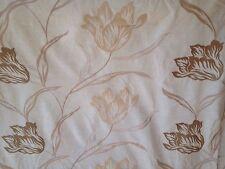 18 Metres Prestigious Gardenia Curtain Fabric In Champagne Floral Design