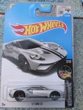 Hot Wheels 2017 #211/365 2017 FORD GT silver HW Nightburnez Long Card