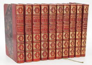 Alfred de Musset : ŒUVRES - 1867. 10 petits volumes illustrés de Photographies