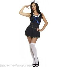 Ladies Sexy Navy Sailor Military Uniform Hen Party Fancy Dress Costume Outfit