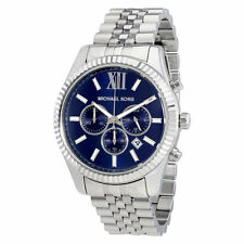 MICHAEL KORS Men's Watch MK8280 Silver Dial Chronograph Retail $275