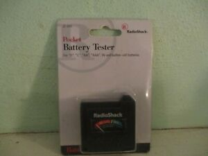 Radio Shack pocket battery tester - AA, AAA, C, D, 9V, button-cell