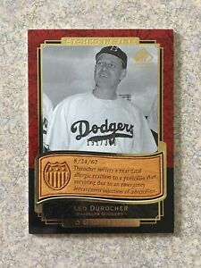 2003 SP LEGENDARY CUTS ETCHED IN TIME GOLD #ET-LD LEO DUROCHER /300