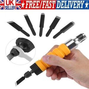 Electric Chisel Tool Wood Carving Machine Woodworking Small Spanner With 5 Tips