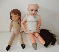 2 Anciennes poupées French Antic doll UNIS FRANCE 301 bouche ouverte A restaurer