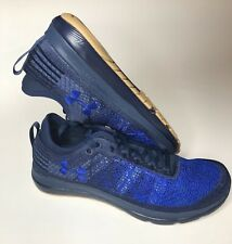the latest 35233 487dd Under Armour Threadborne Fortis Run Strong Charged Running Shoes Sz 9 Navy  Blue