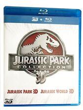 Jurassic Park 3D + 2D + Jurassic World 3D + 2D Collection 4 Blu-ray Box Set NEU