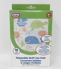 Little Tikes Disposable Multi-Use Diaper Changing Burping Pads Pads 10 Pack Nip