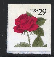 US Scott #2490, Single 1995 Red Rose 29c VF MNH