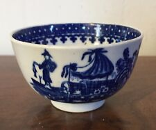 Antique 18th century Worcester Porcelain Tea Cup Bowl Blue & White Chinese 1790