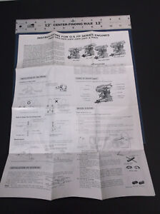 VINTAGE INSTRUCTION SHEET O.S. FP SERIES MODEL PLANE ENGINES AS PICTURED G-COND