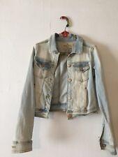 veste en jeans used femme zara t L
