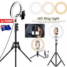 """12/10"""" Ring Light LED+Tripod Dimmable Lighting Kit Makeup Youtube TikTok Live AU"""