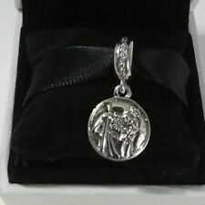 Sterling Silver PANDORA Guardian of Travel ST CHRISTOPHER Pendant Charm 791715CZ