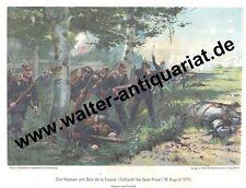 Farbdruck um 1905 Schlacht St.Privat Hessen am Bois de la Cusse 1870 Militär
