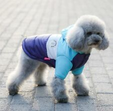 Hundemantel Wintermantel Hundebekleidung Hundejacke Maltese 12 M Yorkie Blau NEU