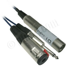 Xlr Male to 6.3mm (1/4 inch) Mono Male and 6.3mm (1/4 inch) Mono Female with Cli