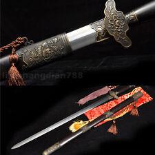 41' Rosewood Saya Damasus Folded Steel Copper Peony Fuchi Chinese Rose Sword