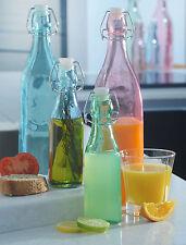 Kilner Vintage Color bebidas Clip Top Glass preservar Botella - 250 Ml Y 1 Litro