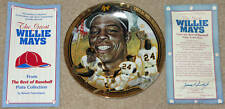 """1993 Willie Mays Hamilton Collection 23 K   6""""  Plate"""