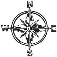 TRIBAL COMPASS ROSE NAUTICAL STAR CAR BOAT BIKE WINDOW VINYL DECAL STICKER (C-1)