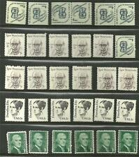 US lot of 30 stamps #1844 1c Dorothea Dix, #1278 -1¢ Thomas Jefferson, MNH pairs
