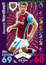 351 Havard NORDTVEIT NORWAY WEST HAM UNITED CARDS PREMIER LEAGUE 2017 TOPPS
