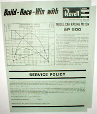 Revell 1964 SP500 Motor Advertising Dealer Flyer 1/32 scale slot car Repo Copy