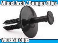 10x BUMPER RIVET TRIM CLIPS FOR VAUXHALL CORSA ASTRA VECTRA ZAFIRA BLACK PLASTIC