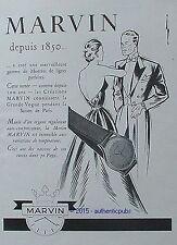 PUBLICITE MARVIN MONTRE LES AMOUREUX ART DECO DE 1951 FRENCH AD ADVERT WATCH PUB